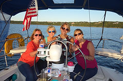 Four lovely ladies on an afternoon sail with sailATX
