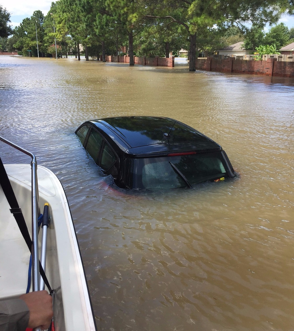 Flooded Car in Katy, TX