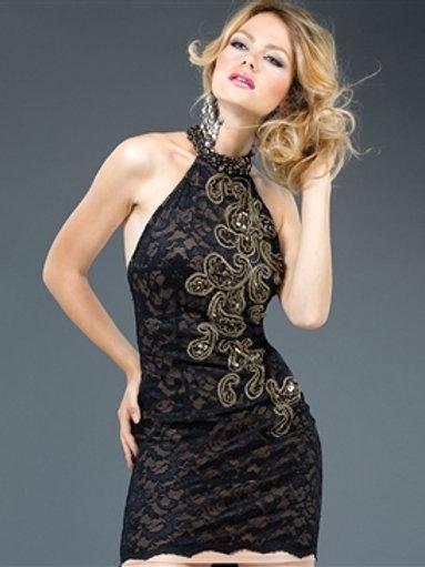 Jovani 77625 Black  Halter Dress