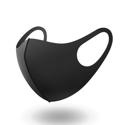 Single layer Black Mask 3-pack