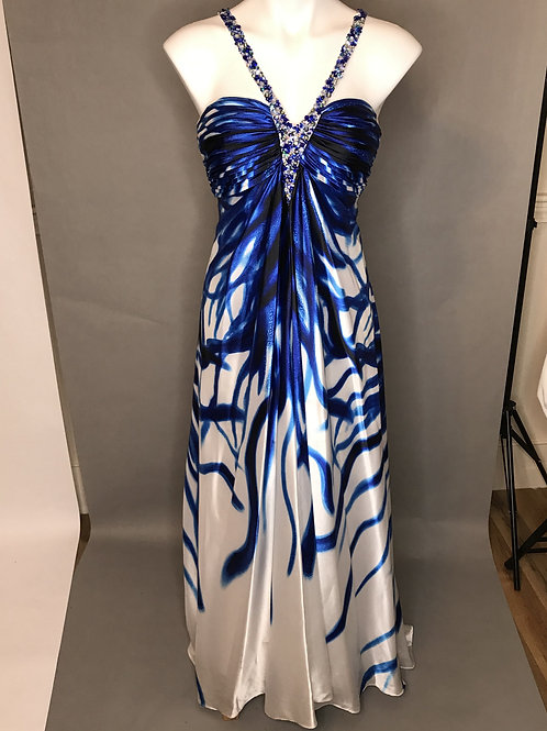 Cache Royal Blue and white Dress