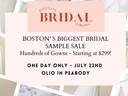 Boston's Biggest Bridal Sample Sale!