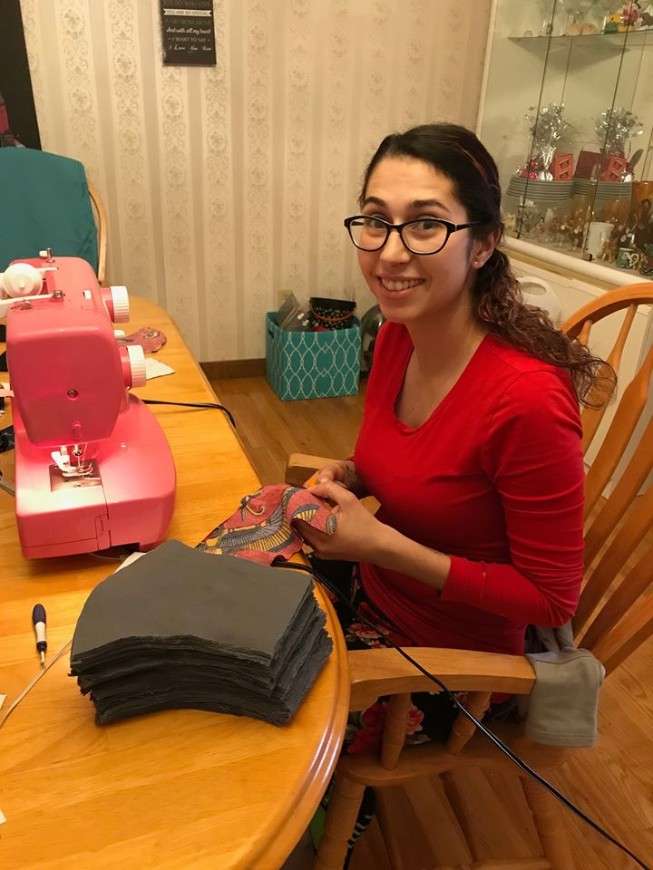 Sabrina sewing Masks