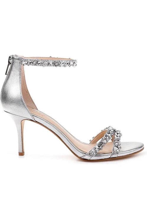 Darlene Embellished Ankle Strap Heel