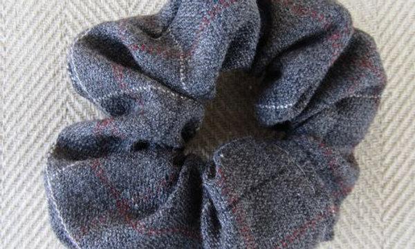 Winter tweed scrunchie