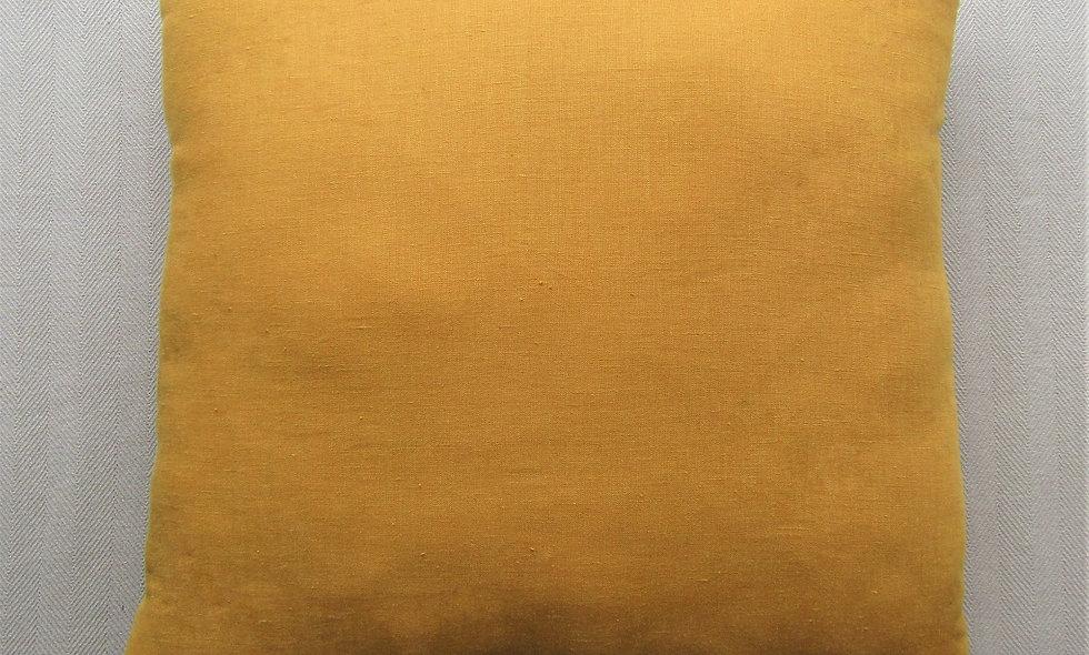 Mustard 100% Linen Cushion