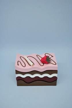 Raspberry Chocolate Mousse Slice