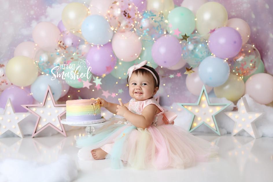 South Jersey Photographer-Pastel theme, rainbow theme, unicorn theme, 1st birthday
