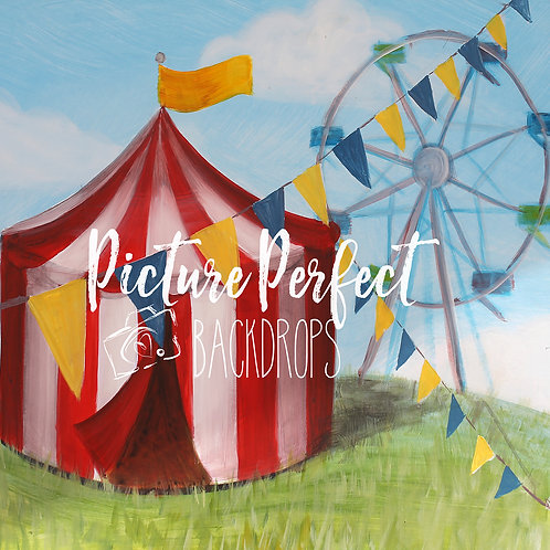 Circus Love 8x8- Fabric