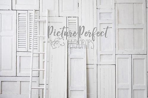 White rustic -60x80 fabric