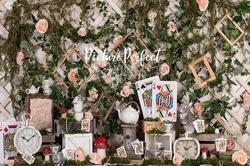 Wonderland Garden 6x8- fabric