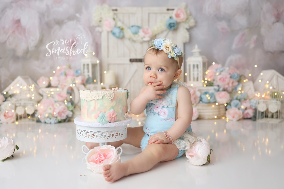 South Jersey Photographer-  floral theme, pink blue