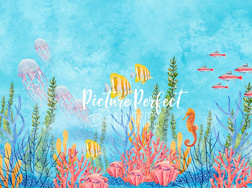 Under the sea -8x10 ultra fabric (hand painted)