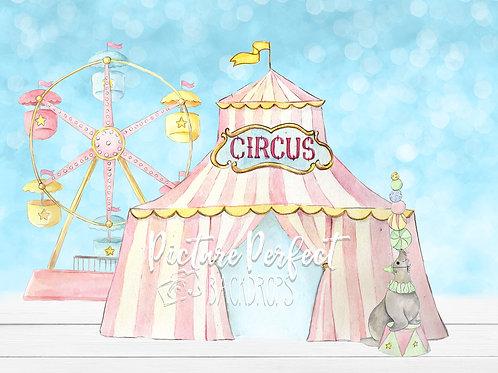 Pink Circus-8x10 backdrop
