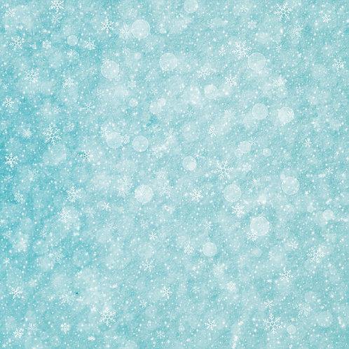 Simple Aqua Snowy Bliss