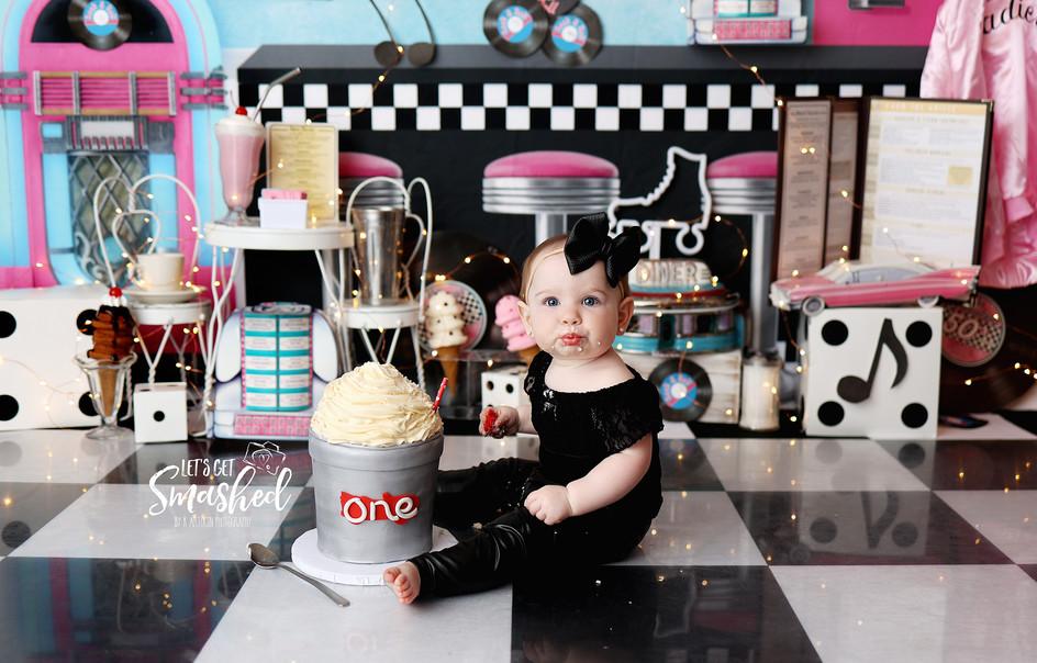 South Jersey Cake Smash Phototgrapher, 50's theme, grease theme, sock hop