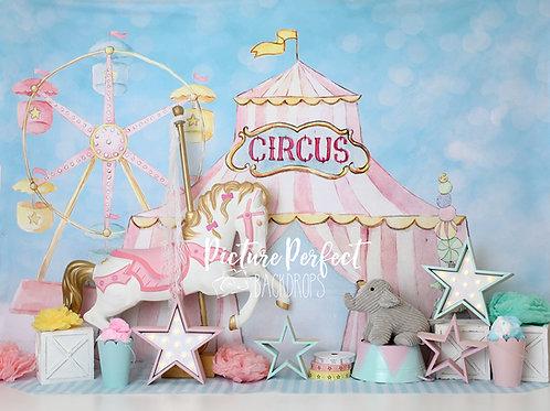 PinkCircus Carousel-Fleece Fabric 60x80