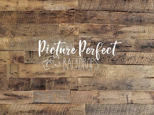 Worn weathered wood- 5x7 floor mat
