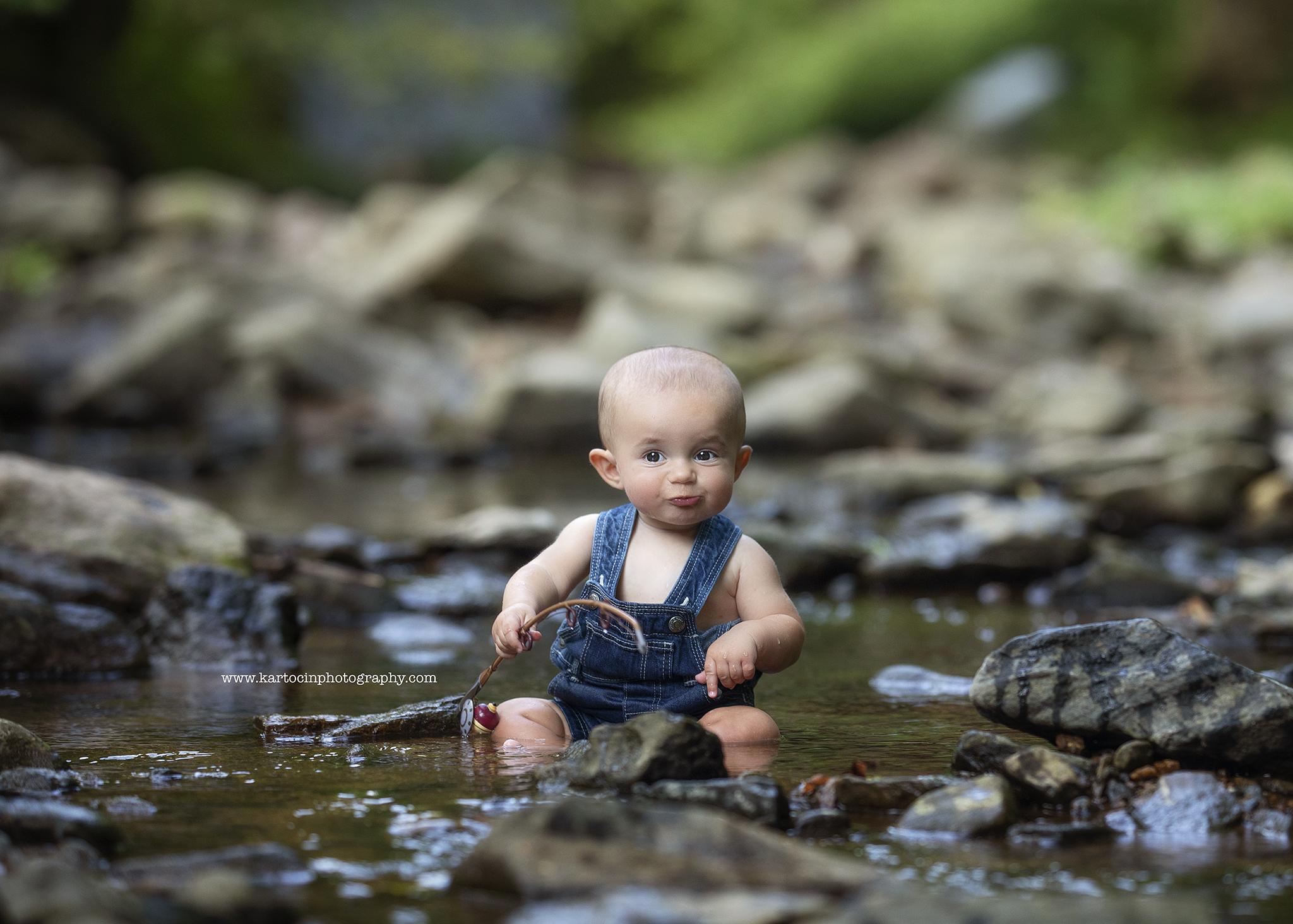 K Artocin Photography, Fishing, 6months