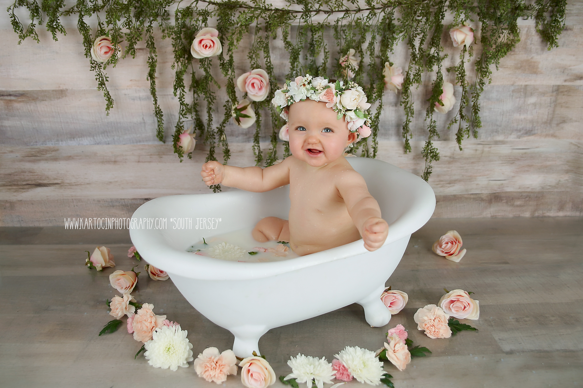 South Jersey Photographer, Milk Bath