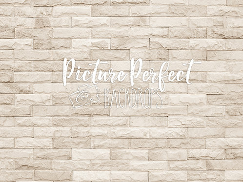 6x8  Creamy Dreamy Brick-Fabric