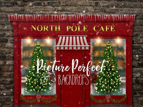 North Pole Cafe- 8x10 Fabric