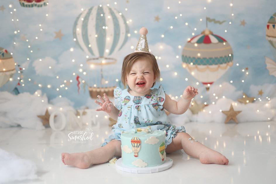 South Jersey Cake Smash Photographer-vintage hot air balloon themeuth Jersey Cake Smash Photographer cake smash - Woodland theme, floral, let's get smashed, Backdrop-picture perfect backdrops
