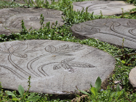 Carved Pavers Walkway To The Yoga Studio At The Oasis Garden