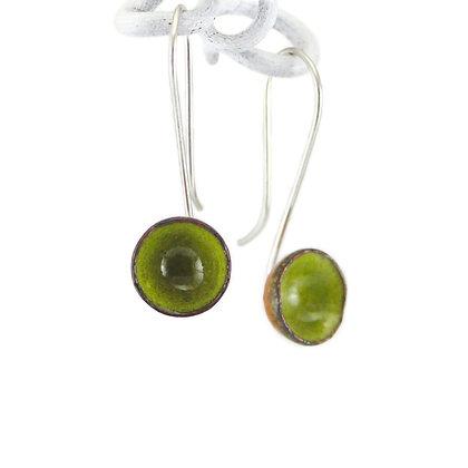 Ohrhänger, Kelche, yellow green