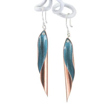 Kupferohrhänger, turquoise blue