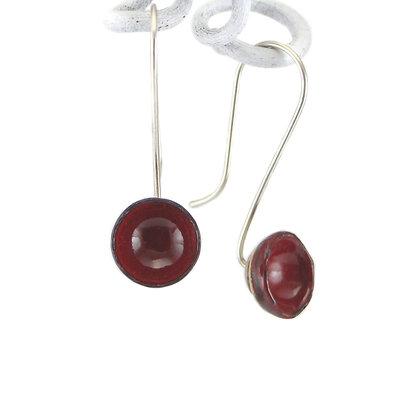 Ohrhänger, Kelche, victorian red