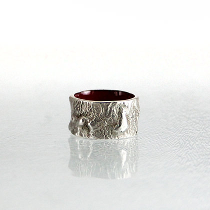 Silber-Emaille-Ring