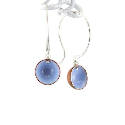 Ohrhänger, Creole, opal blue