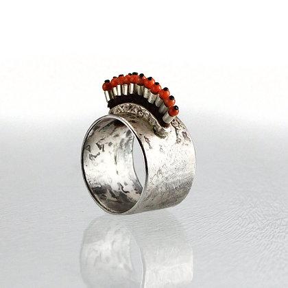 Silber-Macramee-Ring