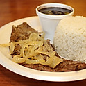 Grilled Steak w/ Rice and Beans