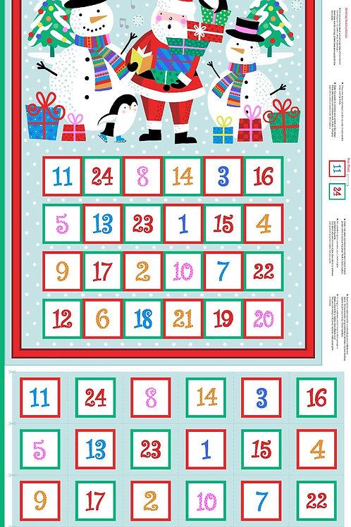 MP Makower Novelty Advent Calendar Panel 2018