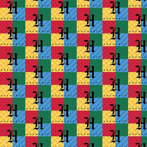 Harry Potter Hogwarts Checked Fabric