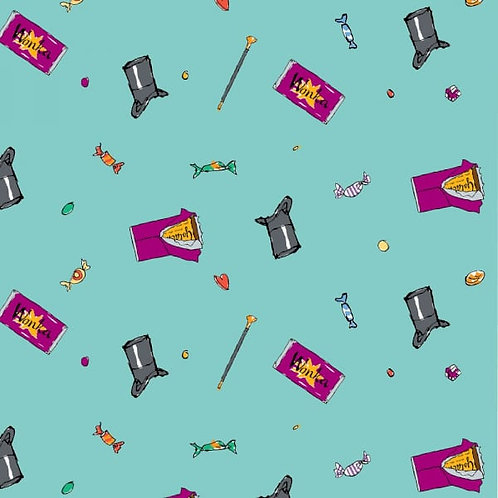 Charlie and the Chocolate Factory Sweets Fabric