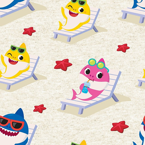 Baby Shark Star Fish Beach Fabric