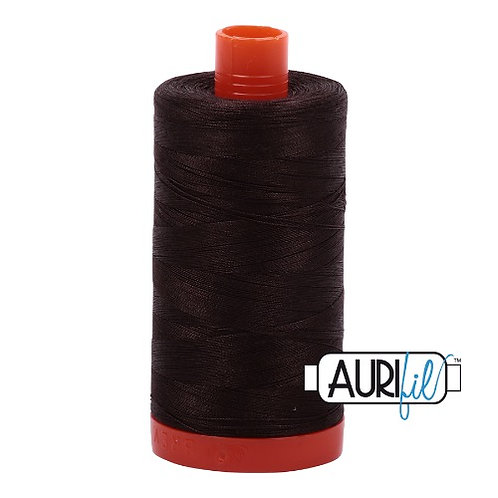 Aurifil 50 1300m 1130 Very Dark Bark Cotton Thread