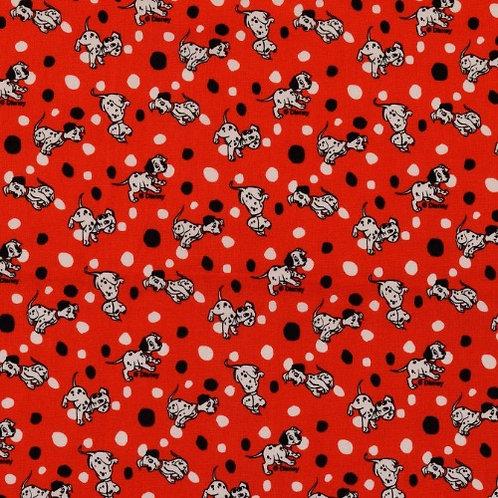 Disney 101 Dalmatians Fabric - Red