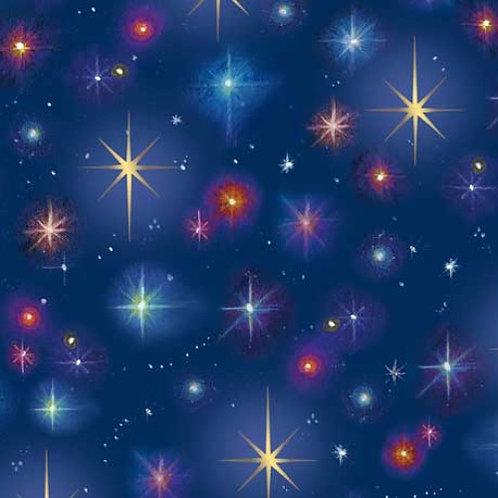 Stars Navy Fabric