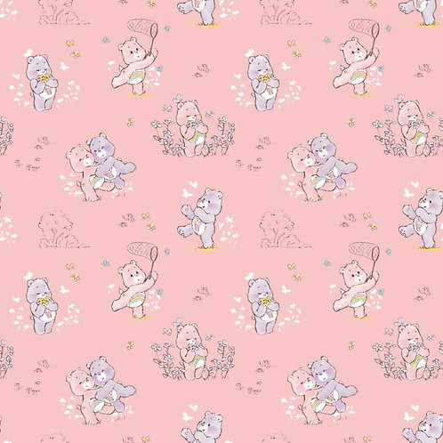 Care Bears Cheer and Share Bears Fabric - Pink