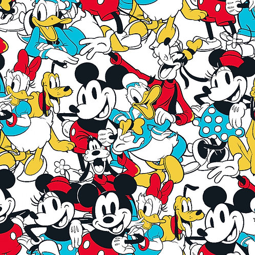 Disney Mickey and Friends Sensational 6 Snapshot Fabric