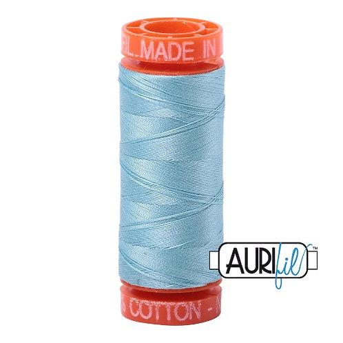 Aurifil 50 200m 2805 Cotton Thread Light Grey Turquoise
