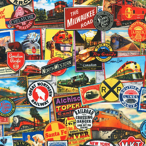 Library of Rarities Adventure Travel Fabric
