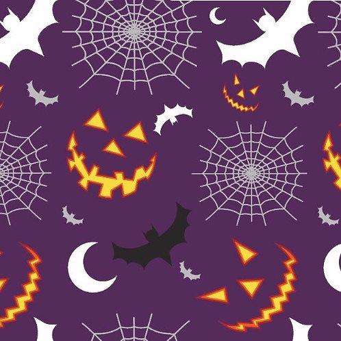 Halloween Night Time Poplin Fabric