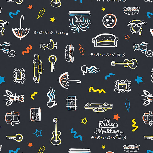 Friends 25th Anniversary Fabric