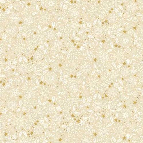 Silent Night Snowflake Makower Christmas Fabric