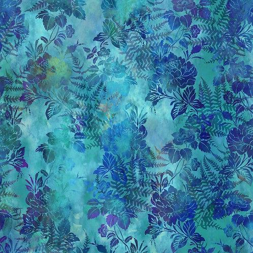 Garden of Dreams Fabric - Blue Green